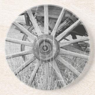 Práctico de costa blanco y negro de la rueda de ca posavasos manualidades