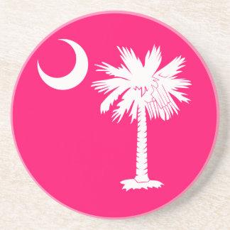 Práctico de costa blanco y rosado de la luna del P Posavasos Diseño