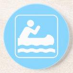 Práctico de costa Canoeing del símbolo Posavasos Para Bebidas