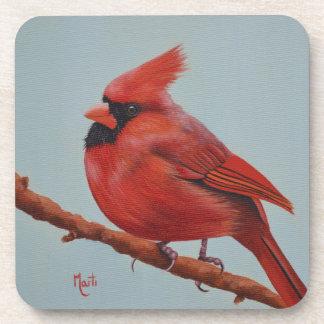 Práctico de costa cardinal rojo posavasos de bebida