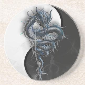 Práctico de costa chino del dragón de Yin Yang Posavasos Personalizados