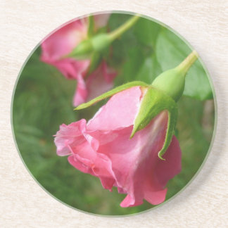 Práctico de costa color de rosa bonito posavasos personalizados