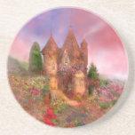 Práctico de costa color de rosa del arte del señor posavasos personalizados