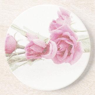 Práctico de costa color de rosa elegante de la beb posavaso para bebida