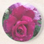 Práctico de costa color de rosa púrpura posavasos personalizados