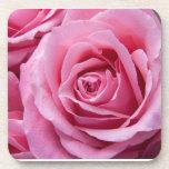 Práctico de costa color de rosa rosado de la fotog posavaso