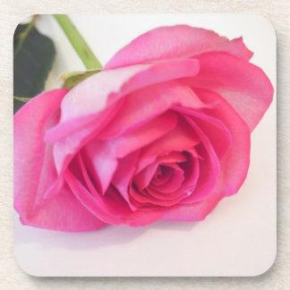 Práctico de costa color de rosa rosado posavasos de bebida
