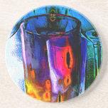 Práctico de costa coloreado 56 de los vasos de med posavaso para bebida