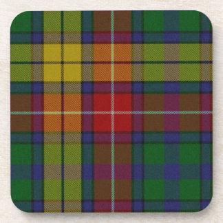 Práctico de costa colorido de la tela escocesa de  posavasos de bebidas