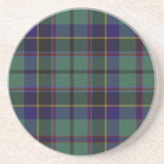 Práctico de costa colorido de la tela escocesa posavasos personalizados