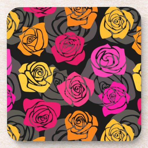 Práctico de costa colorido del corcho de los rosas posavaso