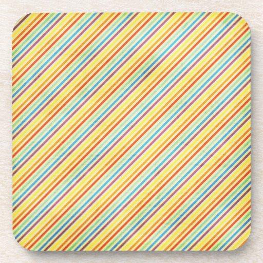 Práctico de costa colorido del corcho posavasos