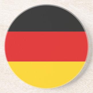 Práctico de costa con la bandera de Alemania Posavasos Manualidades