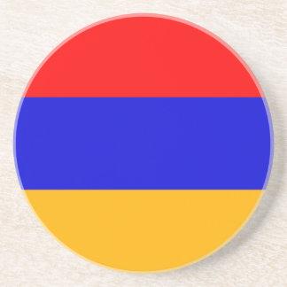 Práctico de costa con la bandera de Armenia Posavasos Diseño