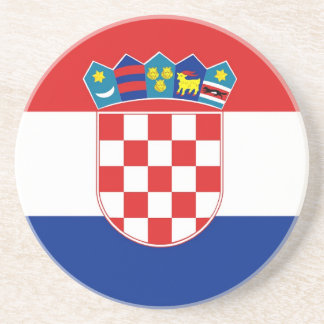 Práctico de costa con la bandera de Croacia Posavaso Para Bebida