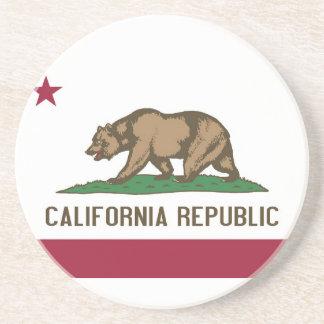 Práctico de costa con la bandera de la California, Posavaso Para Bebida