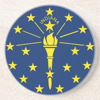 Práctico de costa con la bandera de la Indiana lo Posavasos Cerveza