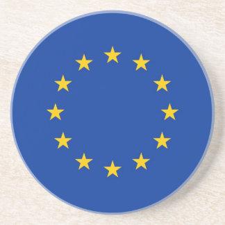 Práctico de costa con la bandera de la unión europ posavasos personalizados