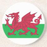 Práctico de costa con la bandera de País de Gales Posavaso Para Bebida