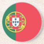Práctico de costa con la bandera de Portugal Posavasos Cerveza