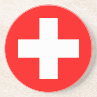 Práctico de costa con la bandera de Suiza Posavasos Para Bebidas