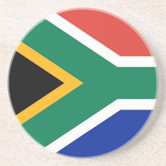 Práctico de costa con la bandera de Suráfrica Posavasos Cerveza
