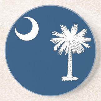Práctico de costa con la bandera del Carolina del  Posavasos De Arenisca