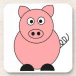 Práctico de costa cuadrado del cerdo posavasos de bebidas