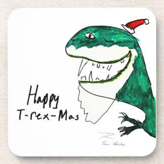 Práctico de costa cuadrado del navidad T-Rex-Mas Posavaso
