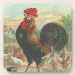 Práctico de costa de cacareo del corcho del gallo posavasos de bebida