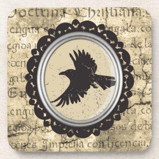 Práctico de costa de consumición del pájaro gótico posavaso
