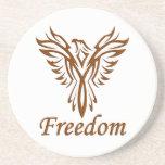 Práctico de costa de Eagle de la libertad Posavasos Personalizados