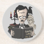 Práctico de costa de Edgar Allan Poe Posavasos Diseño