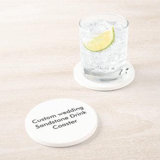 Práctico de costa de encargo de la bebida de la posavaso para bebida