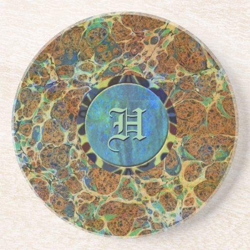 Práctico de costa de encargo de mármol de Brown Posavasos Diseño