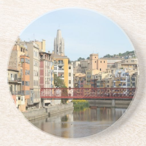 Práctico de costa de Girona (Gerona) Posavasos Diseño