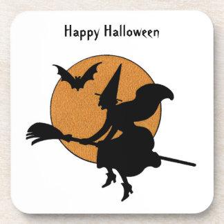 Práctico de costa de Halloween de la bruja del vue Posavasos De Bebidas