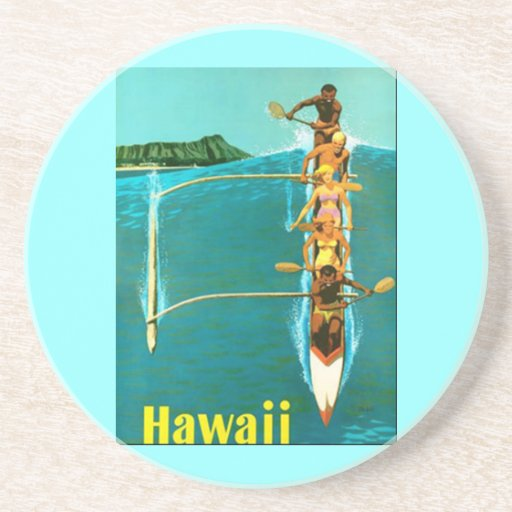 Práctico de costa de Hawaii Posavasos Diseño