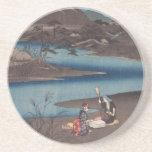 Práctico de costa de Ichiryusai Hiroshige Posavasos Cerveza