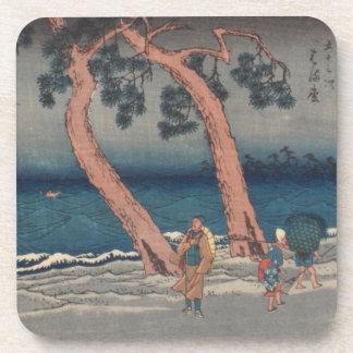 Práctico de costa de Ichiryusai Hiroshige Posavasos