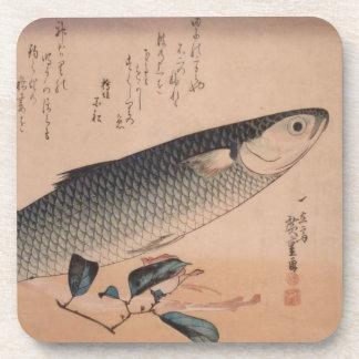 Práctico de costa de Ichiryusai Hiroshige Posavasos De Bebida