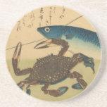 Práctico de costa de Ichiryusai Hiroshige Posavaso Para Bebida