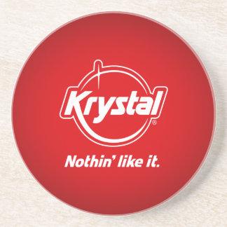 Práctico de costa de Krystal Posavasos Personalizados