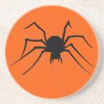 Práctico de costa de la araña de Halloween Posavasos Para Bebidas