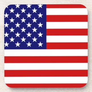 Práctico de costa de la bandera americana de los E Posavasos De Bebidas