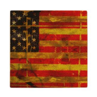 Práctico de costa de la bandera americana del posavasos de arce
