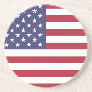 Práctico de costa de la bandera americana posavasos personalizados