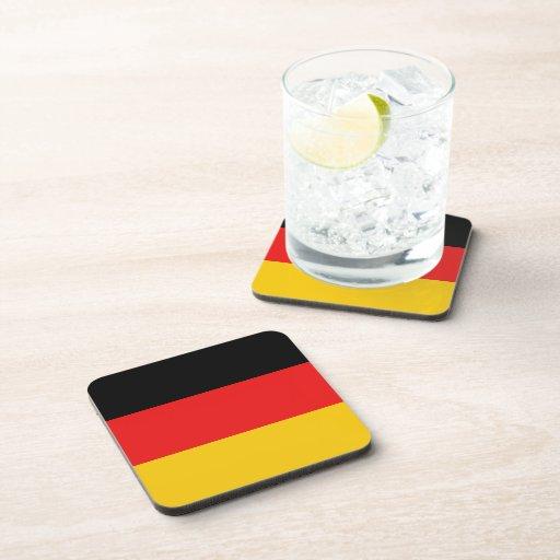 Práctico de costa de la bandera de Alemania Posavasos