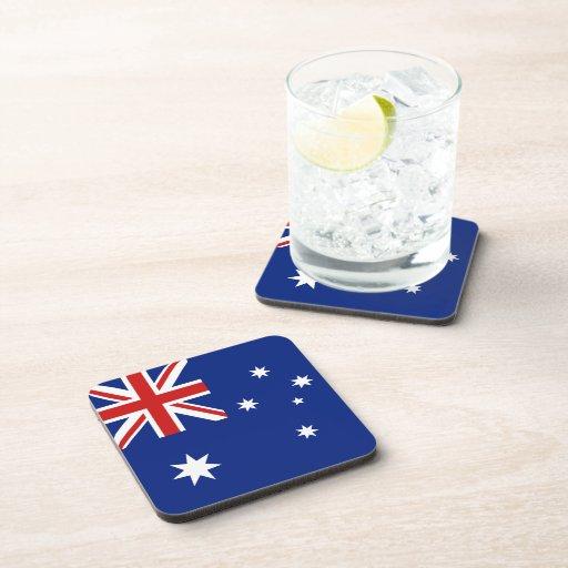 Práctico de costa de la bandera de Australia Posavasos