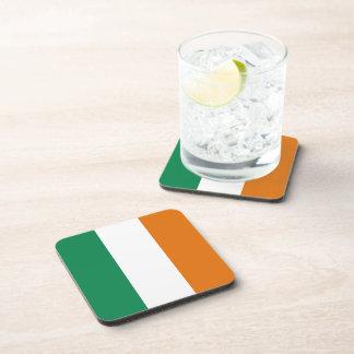 Práctico de costa de la bandera de Irlanda Posavasos